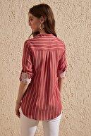 TRENDYOLMİLLA Kırmızı Cep Detaylı Gömlek TWOSS19ST0062