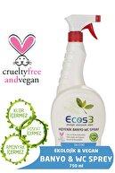 Ecos3 Ekolojik Banyo-Wc Temizleyici Sprey - 750 ml