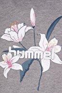 HUMMEL HMLNEVES  T-SHIRT S/S TEE Gri Kız Çocuk T-Shirt 100579846