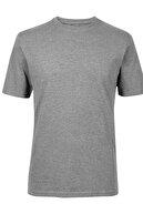 Marks & Spencer Erkek Gri Saf Pamuklu Sıfır Yaka T-Shirt T28005311M