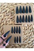SYBELLE KOZMETİK 20 Adet Siyah Stiletto Takma Tırnak