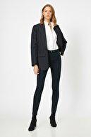 Koton Kadın Lacivert Cep Detayli Pantolon