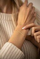 İzla Design Kadın Tilki Kuyruğu Model Altın Kaplama Gümüş İtalyan Bileklik PKT-TLYSLVR0408