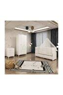 Garaj Home Melina Yıldız Bebek Odası Takımı Beyaz - Yatak Ve Uyku Seti