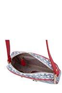 US Polo Assn Beyaz Lacivert Kırmızı Kadın Çanta US20067