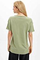 Defacto Oversize Fitslogan Baskılı Tişört