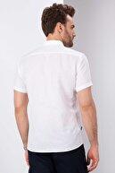 Pierre Cardin Beyaz Slim Fit Kısa Kollu Gömlek