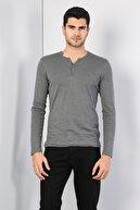Colin's ERKEK Slim Fit Placket Neck Erkek Antra Melanj Tshirt U.Kol CL1022847
