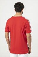 Sateen Men Erkek Kırmızı Baskılı Omuzu Şeritli T-Shirt 172-2501