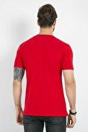 Sateen Men Erkek Kırmızı Baskılı T-Shırt 144-2004