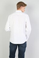 Colin's Slim Fit Shirt Neck Erkek Beyaz Uzun Kol Gömlek