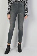 Colin's KADIN 760 Dıana Yüksek Bel Dar Paça Super Slim Fit Gri Kadın Jean Pantolon CL1045947