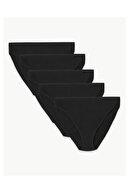 Marks & Spencer Kadın Siyah 5'li Modal Karışımlı İz Bırakmayan Külot Seti T61004666