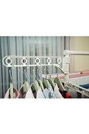 Ceraware 3 Katlı Çamaşırlık Tekerlekli Lüks Çamaşır Kurutmalık Askısı