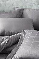 Yataş Destra Çift Kişilik Saten Nevresim Takımı-Füme