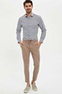 Defacto Slim Fit Desenli Klasik Uzun Kollu Gömlek