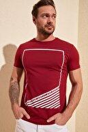 TRENDYOL MAN Bordo Erkek Basic Slim Fit T-Shirt TMNSS20TS0098