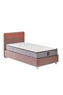 Yataş Loris Sandıklı Yatak Baza Başlık Genç Seti - Fresh Sense Yatak - Tek Kişilik - Gül Kurusu