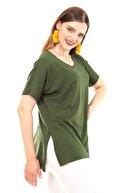 Moda Cazibe Kadın Haki Bluz M9215