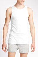 Marks & Spencer Erkek Beyaz 3'lü Saf Pamuklu Kolsuz Atlet T14004760V