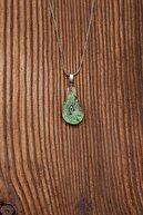 Ninova Silver El İşçiliği Cam Sanatı Nazarlık Gümüş Kolye