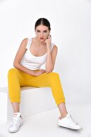 Hanna's Kadın Sarı İki Cepli Bel Ve Paçası Lastikli Pantolon HN2021