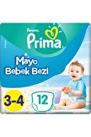 Prima Mayo Bebek Bezi 3 Beden 12 Adet Midi Tekli Paket