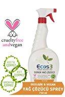 Ecos3 Ekolojik Süper Yağ Çözücü Sprey 750 ml