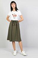 Colin's Midi Skirt Kadın Haki Etek