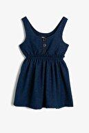 Koton Kız Çocuk Lacivert Dügme Detayli Elbise