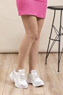 Tonny Black Beyaz Gri Kadın Sneaker DNZ-1