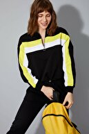 Defacto Kadın Siyah Fermuar Detaylı Sweatshirt N2812AZ.20SP.BK27