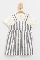 Defacto Kız Bebek Simli Nakış Baskılı Tişört Elbise Takım