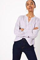 Marks & Spencer Kadın Mor Desenli Uzun Kollu Bluz T43001321