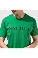 Nautica Nautıca Erkek Yeşil Kısa Kollu Baskılı Tshırt