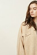 Yargıcı Kadın Bej Cep Detaylı Ceket 0YKCK5156X