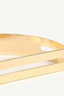 Yargıcı Kadın Altın Geometrik Desenli Bileklik 0YKBJ8274X