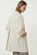 Yargıcı Kadın Taş Cep Detaylı Pardösü 0YKPR5122X