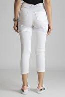 mefz Kadın Beyaz Likralı Skınny Jeans