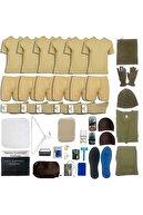 askerpaketi Asker Paketi 6'lı Kışlık Temel Askeri Malzeme Paketi Bedelli Acemi Asker Seti