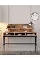 Cool Home Atlantik Çam Loft Metal Ayaklı Çalışma Masası 120 cm