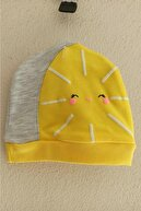 Miniworld Kız Bebek Papatya Desenli  Şapkalı Takım 3'lü