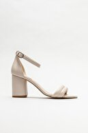 Elle Bej Kadın Topuklu Sandalet