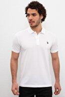 US Polo Assn Erkek  Beyaz Polo Yaka T-shirt