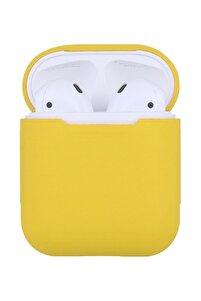 Apple Airpods Kılıf Airpod Koruma Kılıfı Silikon Koruyucu Kabı- Sarı