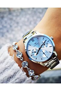 Yeni Sezon Orjinal Çelik Bayan Saati + Bileklik