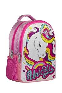 Unicorn Simli Pembe Kız Çocuk Okul Çantası Ve Günlük Sırt Çantası