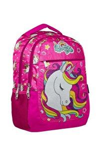 Cennec Kız Çocuk Simli Unicorn Okul Sırt Çantası - Ilkokul Ve Ortaokul Çantası