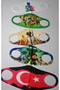 Erkek Çocuk Yıkanabilir Maske 5'li