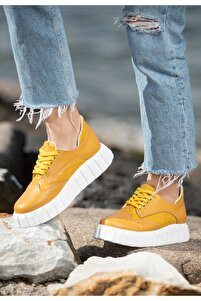 Ola Hardal Cilt Bağcıklı Spor Ayakkabı